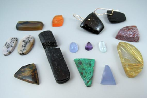 Stones and Earrings by David Baird