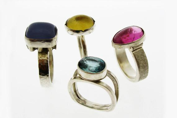 Set of rings by Wendy Jo New